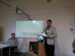 Dr. Titus Pop's paper at the Narratives of Displacement Conference in London